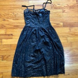 H&M black and gold sheer dress NWT